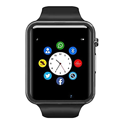 Bluetooth Smart Watch - Wzpiss Life Waterproof Smart Wrist Watch Smartwatch Phone Fitness Tracker with SIM SD Card Slot Camera Pedometer Compatible iOS iPhone Android Samsung for Men Women Kid