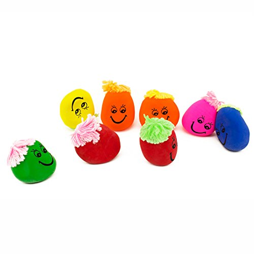 Adorox Smiley Face Squeeze Stress Ball Hand Exercise Therapy Sensory Novelty Party Favor (2.5