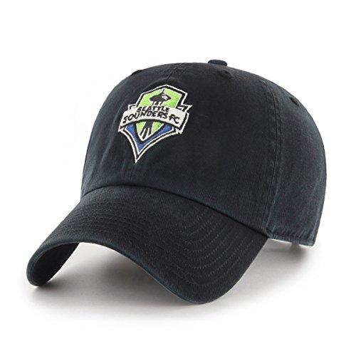 OTS MLS  Seattle Sounders Fc Women's  Challenger Adjustable Hat, Black