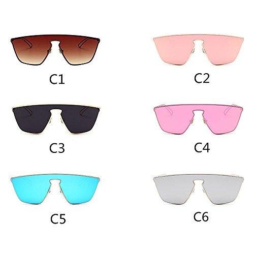 Protection KOMEISHO de pour Femmes Style Designer Couleur C5 Brillants nouveauté Lunettes Nuances Piece Soleil UV Les la One C5 rvr7a06
