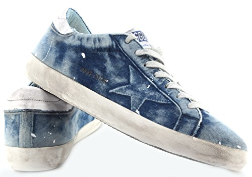 Blu Golden Sneakers New Nuove Italy Uomo Bleached Superstar Made Goose Scarpe wBYBqEgx