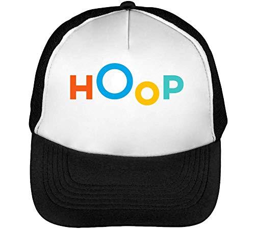 Hoop Gorras Hombre Snapback Beisbol Negro Blanco