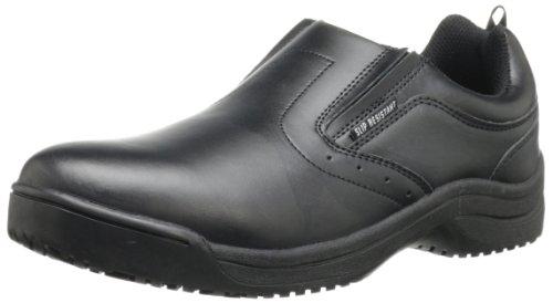 (Skidbuster 5072 Men's Leather Slip Resistant Slip-On,Black,12 W US)