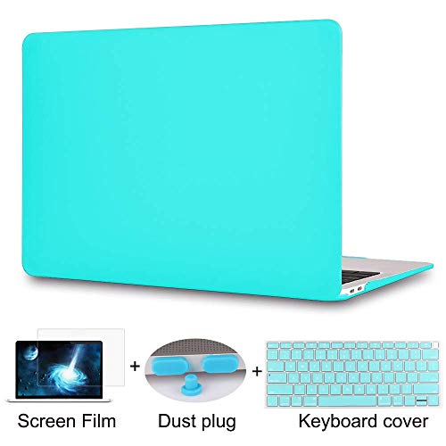 Maychen 2-1 Rubberized Hard Case Cover and Keyboard Cover and Screen Protecor and Dust Plug Compatible with MacBook Air 13