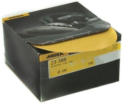 box44; 320-grit PSA Autobox Discs44; 100 Mirka Abrasives 23-388-320 Gold 5 in