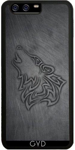 Funda de silicona para Huawei P10 - Hombre Lobo Metálicos De Acero by Nina Baydur