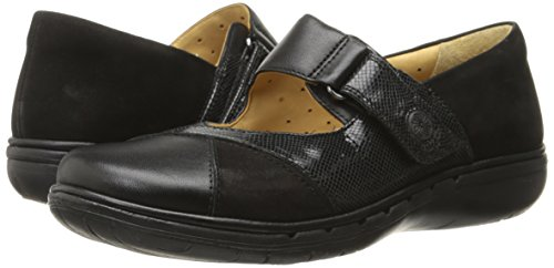 Clarks Women's Un Swan Mary Jane Flat, Black Combination Leather, 5.5 M US by CLARKS (Image #6)
