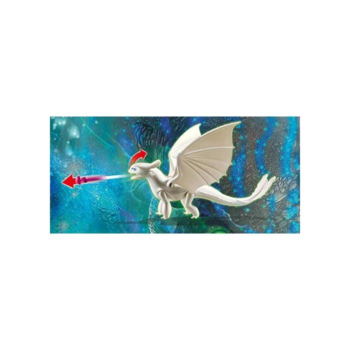 41Fl6eIhH2L Diversión para pequeños aventureros: DreamWorks Dragons Furia Diurna y bebé Dragón con niños, Juego de PLAYMOBIL con figuras y otros accesorios para jugar Furia Diurna con función de tiro para flechas, Niños vikingos con mano de agarre para accesorios PLAYMOBIL, entre otros, adecuado para set de juego Hipo y Desdentao con bebé Dragón PLAYMOBIL (70037) Juego de figuras para niños a partir de 4 años: óptimo para el tamaño de sus manos y bordes redondeados agradables al tacto