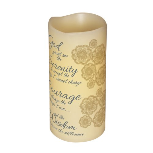 Carson - Inspirational Decorative Serenity Prayer Flameless Led Candle by Carson