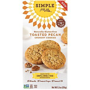 Simple Mills Crunchy Cookies, Toasted Pecan, Naturally Gluten Free, 5.5 ()