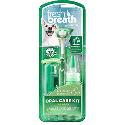 Fresh Breath by TropiClean Oral Care Kit for Pets, Large - Made in USA