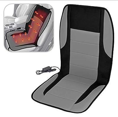 BDK ComfyThrones Car Seat Cushion Warmer - Soft Padded Velour - Heated Seat Cushion for Car