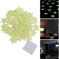 Garumi Kit De 100 Estrellas Fosforescentes Decorativas Verdes
