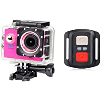 Full HD Waterproof H16R Wifi HD 1080P Ultra Sports Action Camera DVR Cam Camcorder,Sports Camera (Hot Pink)