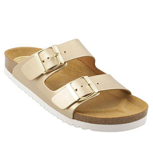 Exclusif ParisExclusif Paris Danae, Chaussures femme Sandales cuir - Sandalias de Vestir Mujer Dorado - oro