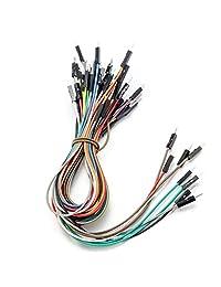 ALLDREI BJ-001 Juego de cables de puente sin soldadura para paneles PCB de 400 pines y 830 pines prototipo y cable de puente (macho-hembra, hembra-hembra, macho-macho) para Raspberry Pi y Arduino
