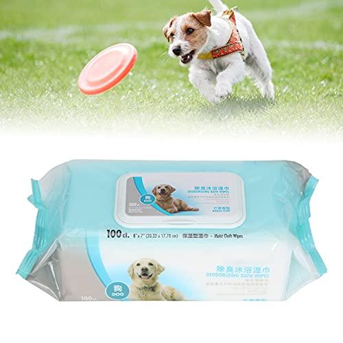 Pet Grooming Doekjes, Pet Doekjes voor het schoonmaken van huisdieren(Dog bath towel 100 pumps)
