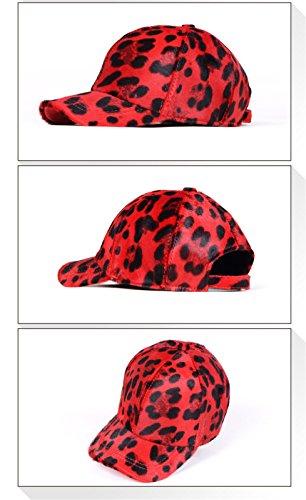60cm Gorra De Leopardo Señoras Moda Neutral Invierno Spot Scarlet Cuero Ajustable Sombrero 56 Imprimir Femenino puntos Masculino Béisbol Tamaño Btbtav Macho 14wqATxT