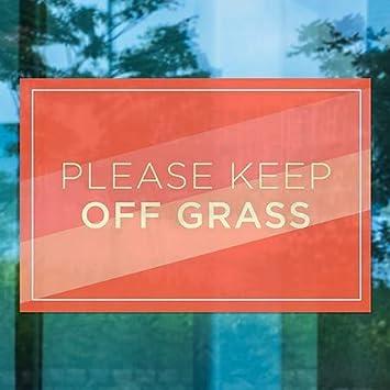 Stripes Blue Premium Acrylic Sign CGSignLab 2463842/_5absw/_16x16/_None Please Keep Off Grass 16x16