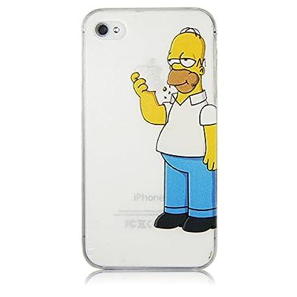 d6b7dbcb529 StormSell Funda Homero Simpson Comiendo Manzana Apple para Proteger tu  iPhone Color Transparente Mate rigida (