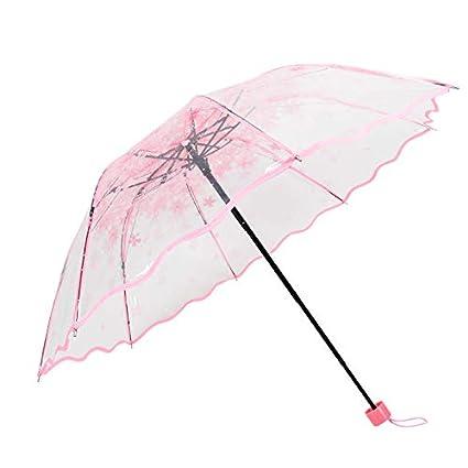 paraguas Transparente Transparente Plegable Transparente tríptico