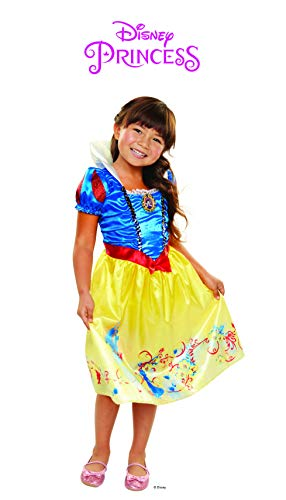 Disney Princess Snow White Explore Your World Dress, Blue/Yellow, Size: 4-6x