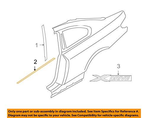 - BMW OEM 07-13 328i Ext.-Window Belt Molding Weatherstrip Left 51378036659