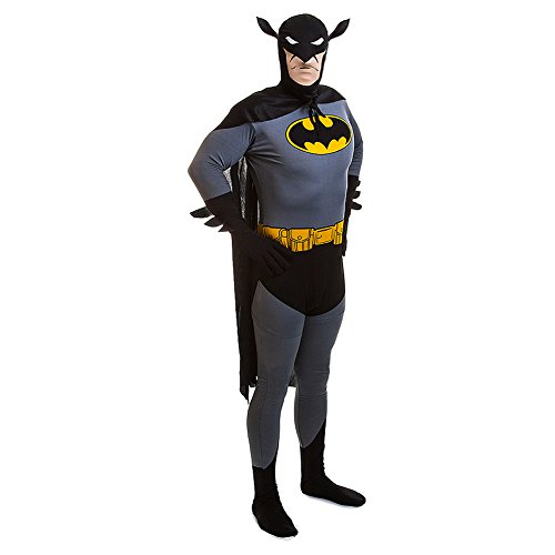 Rubies 2nd Skin Batman Jumpsuit (Black/Grey/Yellow) (Batman 2nd Skin Costume)