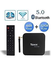 Sofobod Android 9.0 TV Box Tanix TX6 TV Box 4GB RAM/32GB ROM 4K TV Allwinner H6, up to 1.5 GHZ H.265 Decoding 2.4GHz/5GHz WiFi Smart TV Box