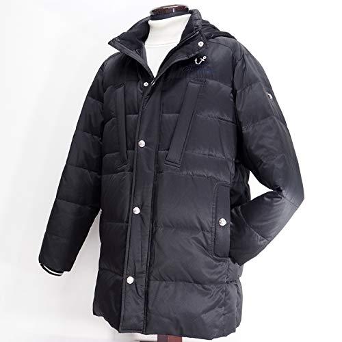 40581 秋冬 ダウンコート ハーフコート フード取り外し可 ブラック(黒) サイズ 52(3L) CAPRI カプリ 紳士服 メンズ 男性用