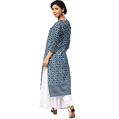 41Fl9o8tcsL. SS500  - Amayra Women's Cotton Straight Kurti