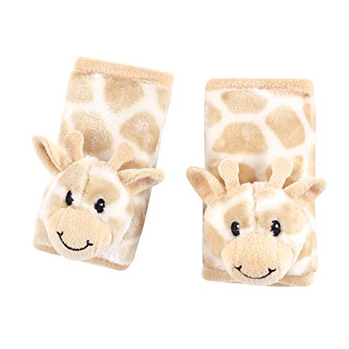 Hudson Baby Cushioned Car Seat and Stroller Strap Covers, Giraffe, One Size