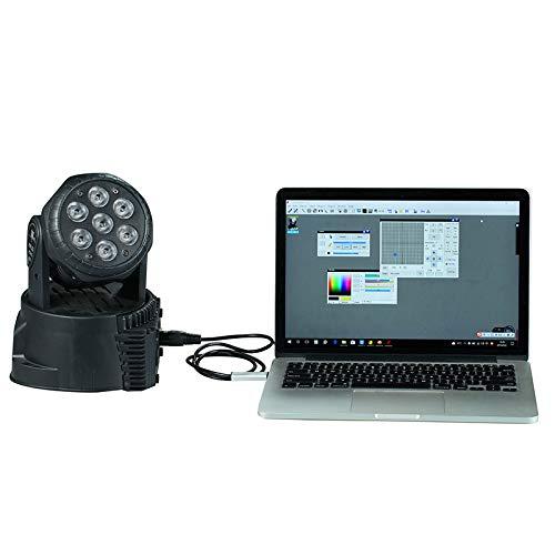 PerGrate perg de Transferencia USB a DMX de Interfaz Adaptador LED DMX512/Ordenador PC Etapa iluminaci/ón Controlador regulador