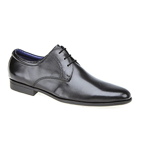 Route 21 Mens Plain Gibson Shoes Black