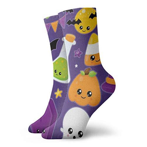 Casual Crew Dress Socks for Girls - Halloween Clipart Clipart Football Athletic Socks - Womens Fashion Novelty Gift Short Socks for Wedding Party Everyday