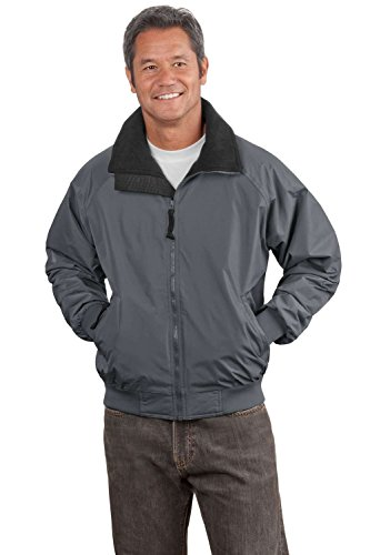 Port Authority Men's Challenger Jacket in Steel Grey/True Black, Medium