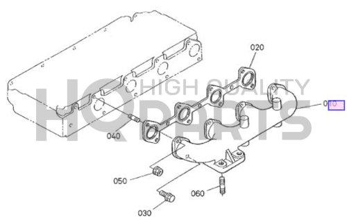 Kubota Manifold,exhaust Part # (510 Exhaust)