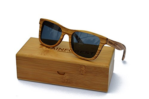 Rainforest Unisex -Adult's Wooden Sunglasses, Polarized, Wayfarer, Canopy Graphite by Rainforest