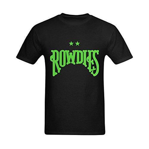 Youranli Men's Tampa Bay Rowdies Logo Two Green Stars Logo Design Tshirt Small