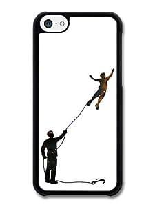 MMZ DIY PHONE CASEBanksy Inspired Flying Boy Original Art Illustration case for ipod touch 5