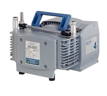 "BrandTech 732003 PTFE MZ2 NT Diaphragm Vacuum Pump with US Plug, 120V Power Supply, 1.40cfm Pumping Speed, 9.41"" Width x 7.80"" Height x 9.57"" Depth"