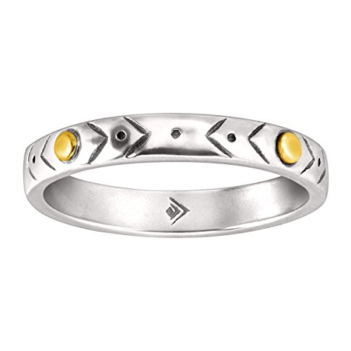 Mixed Metal Ring (Silpada 'Varied Details' Sterling Silver and Brass Etched Band Ring)