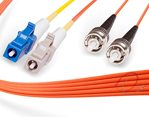 Conditioning Patch Cable Optic Fiber (2M LC to ST Mode Conditioning Fiber Patch Cable | Fiber Optic LC Mode-Conditioning to ST Fiber Patch Cable 2 Meter (6.56ft) | Length Options: 1M-15M | FiberCablesDirect)