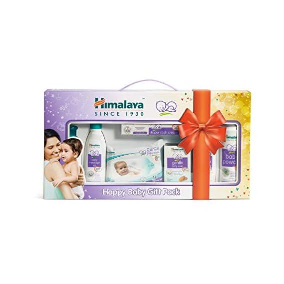 Himalaya Happy Baby Gift Pack ( 7 IN 1) - Shampoo, Oil, Diaper Rash Cream, Soap, Lotion, Powder & Wipes