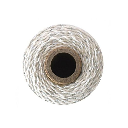 Bakers Twine - 240 Yards 4 ply Cotton (Silver Metallic)
