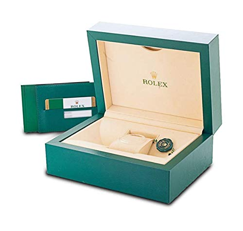 Green Watch Box for Submariner, Daytona, Explorer, and Cellini Watches Reloj - Inner Embossed Gold Lip