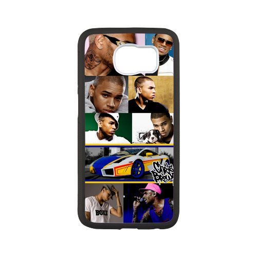 Fayruz- Personalized Protective Hard Textured Rubber Coated Case Cover for Samsung Galaxy S6 - Chris Brown -S6O525
