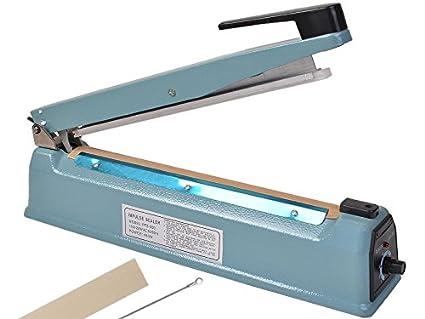 Kseven 12u0026quot; Heat Impulse Sealer, Hand Portable Table Top Poly Bag  Plastic Film Tubing