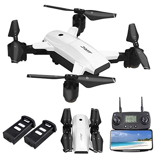 JJRC H78G FPV Drone with 1080P HD Wi-Fi Camera Live Video and GPS Return Home, RC Quadcopter for Adults, Follow Me and Film, 5G WiFi Transmission, GPS Waypoint Flying, Bonus Battery, White