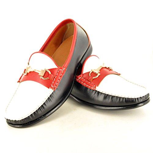 My Perfect Pair - Náuticos para hombre Multicolor - blanco, negro y rojo